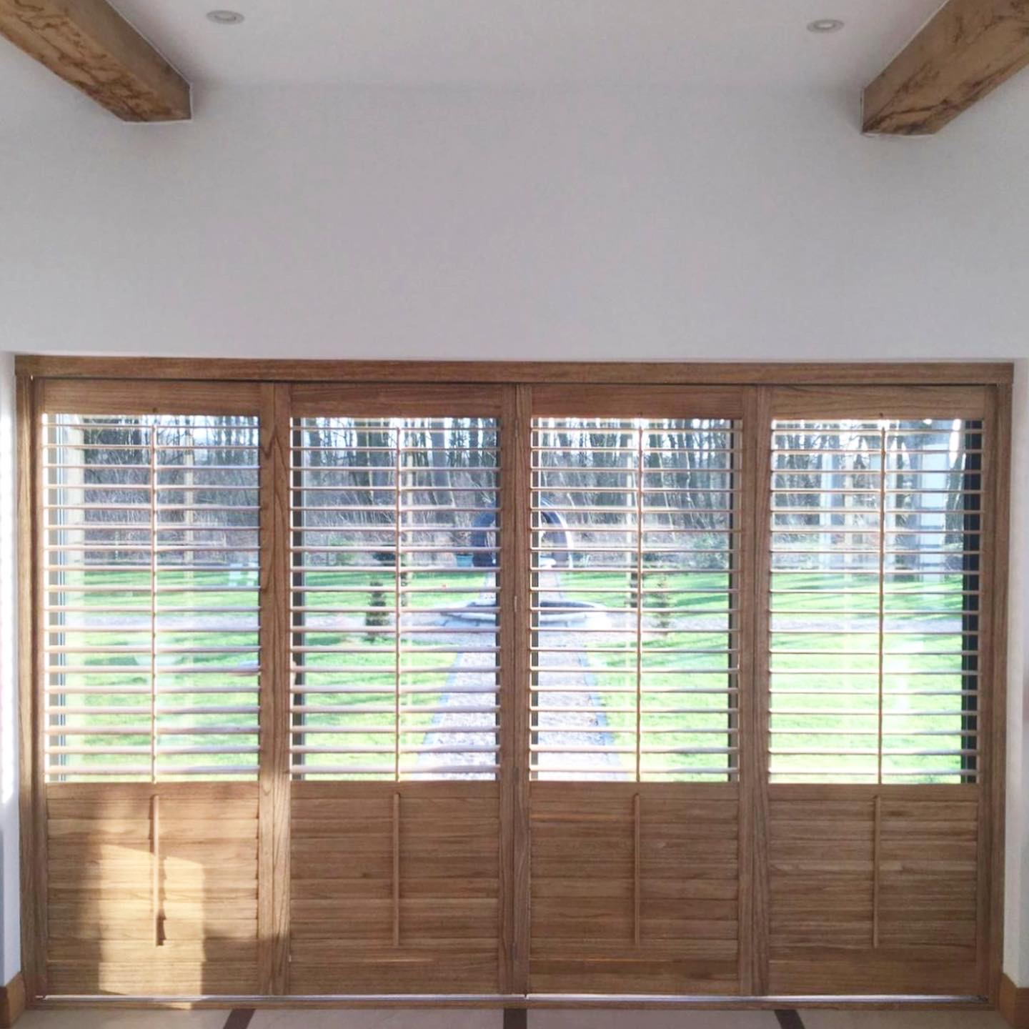 Tracked Patio and Bifold Shutters